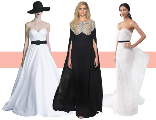 runway-wedding-dresses-black-white