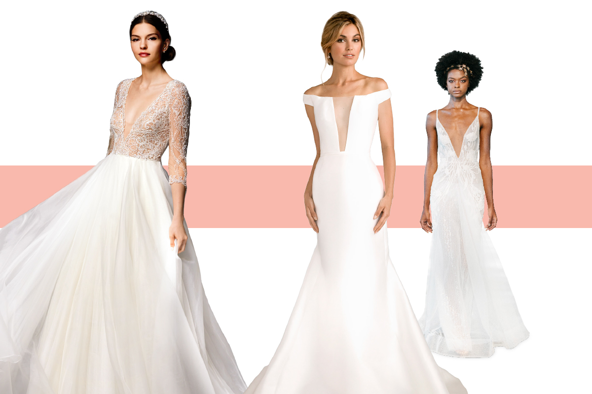 wedding-dresses-v-neck