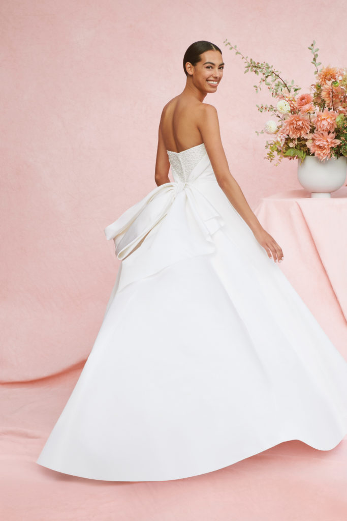 Carolina Herrera gown with pearls