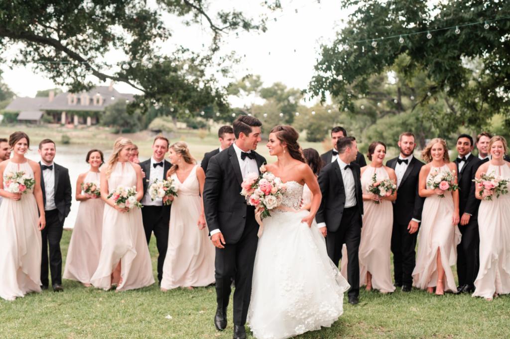 Julie, Alex, and bridal party