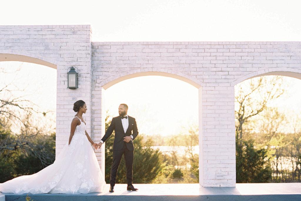 Lauren and Trey on wedding day